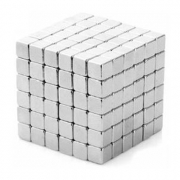 Neocubes 216 stk. 5 mm magnetic balls square pieces silver, ref. F4-26