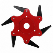 'Metal Blades Trimmer Head Tool for Lawn Mower – Red' og '6 Blades Cutter Head Grass Trimmer Brush 65Mn'