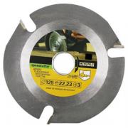 Carbide Original Speed Cutter 125 mm 3 Teeth Wood Circular Saw Blade for Angle Grinder Cutting Disc for Wood Carving Cutting and Shaping with 3 Teeth 22.23 mm